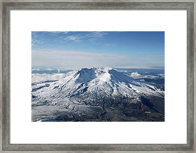 Mount St. Helens 0005 Framed Print by David Mosby