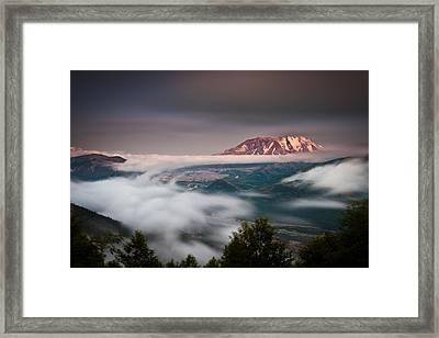 Mount St Helens Twilight Framed Print by Thorsten Scheuermann