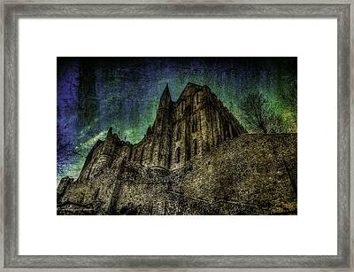 Mount St Michael Unreal Framed Print