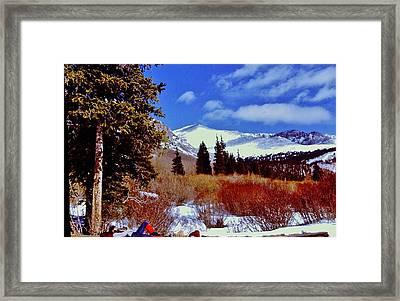 Mount St Vrain  Framed Print