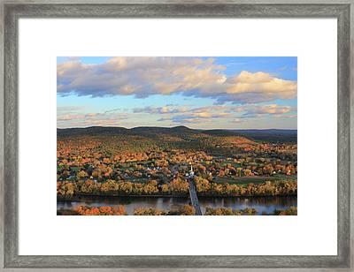 Mount Sugarloaf And Sunderland Autumn Evening Framed Print by John Burk