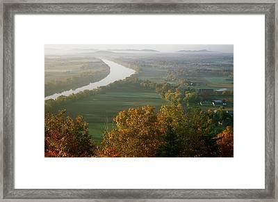 Mount Sugarloaf Autumn Morning Framed Print by John Burk