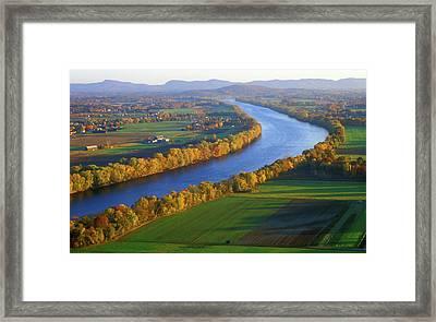 Mount Sugarloaf Connecticut River Framed Print by John Burk