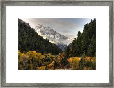 Mount Timpanogos 2 Framed Print by Douglas Pulsipher