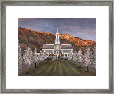 Mount Timpanogos Temple Framed Print by Jeff Brimley