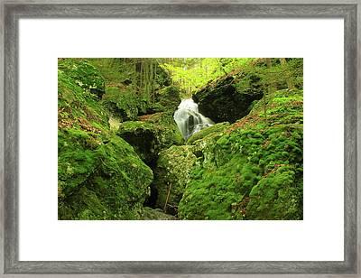 Mount Toby Roaring Falls Ravine Framed Print