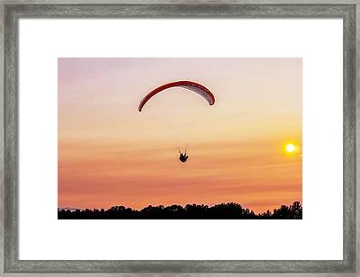 Mount Tom Parachute Framed Print