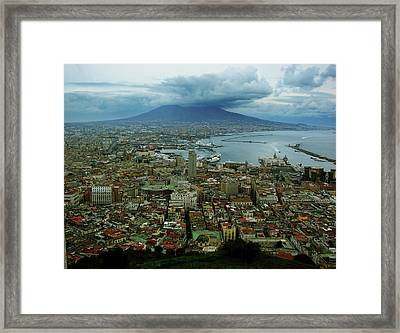 Mount Vesuvius Naples It Framed Print