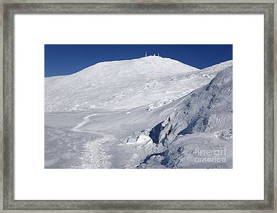 Mount Washington - White Mountain New Hampshire Usa Winter Framed Print
