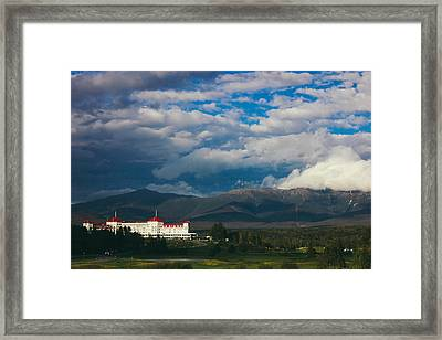 Mount Washington And The Presidential Mountain Range Of New Hampshire Framed Print