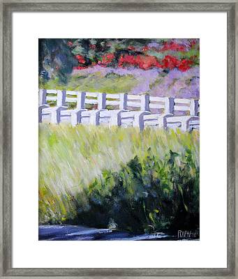 Mount Washington Drive In Spring Framed Print by Richard  Willson