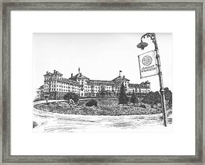 Mount Washington Hotel Number One Framed Print