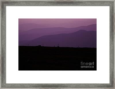 Mount Washington New Hampshire - Auto Road Framed Print by Erin Paul Donovan