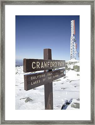 Mount Washington New Hampshire - Crawford Path Framed Print by Erin Paul Donovan