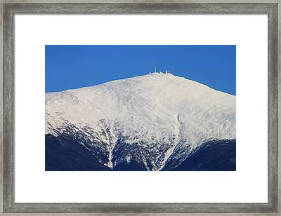 Mount Washington Summit And Weather Observatory Framed Print by John Burk