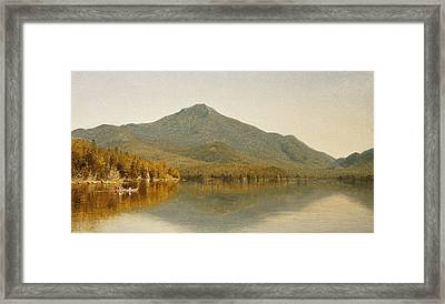 Mount Whiteface From Lake Placid Framed Print by Albert Bierstadt