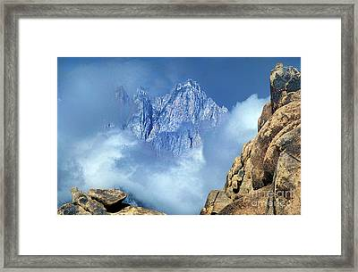 Framed Print featuring the photograph Mount Whitney Clearing Storm Eastern Sierras California by Dave Welling