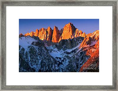 Mount Whitney Framed Print by Inge Johnsson