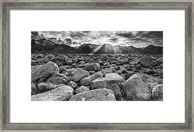 Mount Williamson From Manzanar Framed Print
