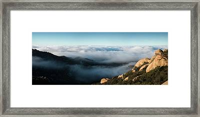 Mount Woodson Clouds Framed Print by William Dunigan