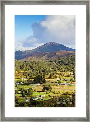 Mount Zeehan Valley Town. West Tasmania Australia Framed Print by Jorgo Photography - Wall Art Gallery