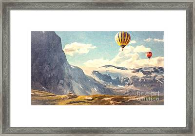 Mountain Air Balloons Framed Print