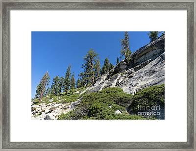 Mountain Along Tioga Pass Yosemite California Dsc04218 Framed Print