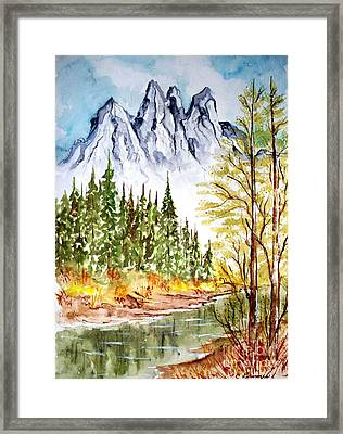 Mountain Alps Framed Print by Carol Grimes