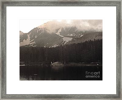Framed Print featuring the photograph Mountain Anglers by Thomas Bomstad
