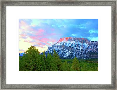 Mountain At Dawn Framed Print by Paul Kloschinsky
