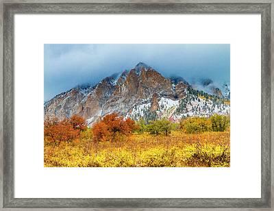 Mountain Autumn Color Framed Print