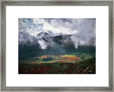 Mountain Autumn Framed Print by Leland D Howard