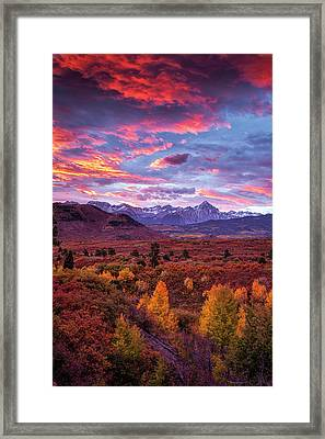 Mountain Autumn Sunrise Framed Print