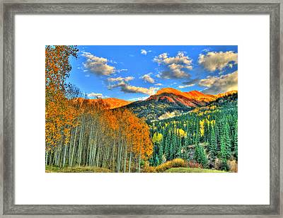 Mountain Beauty Of Fall Framed Print