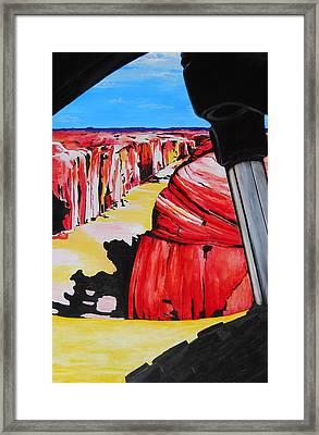Mountain Bike Moab Slickrock Framed Print by Susan M Woods