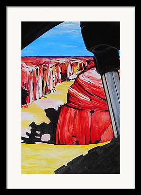 Slickrock Paintings Framed Prints