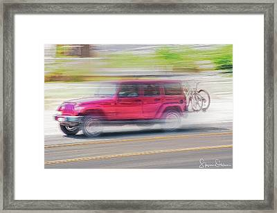 Mountain Bike Roadtrip - Signed Limited Edition Framed Print