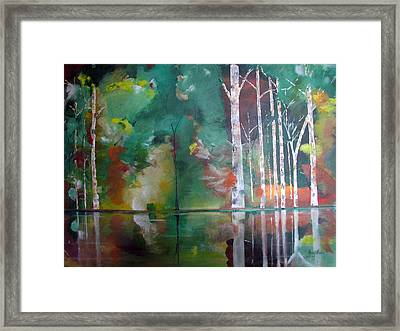 Framed Print featuring the painting Mountain Birch by Gary Smith