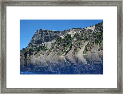 Framed Print featuring the photograph Mountain Blue by Laddie Halupa