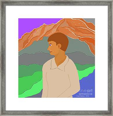 Mountain Boy Framed Print by Fred Jinkins