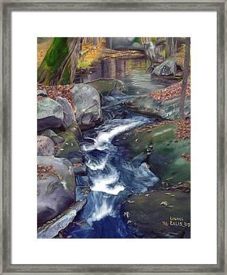Mountain Brook Iv Framed Print by Laurel Ellis