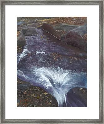 Mountain Brook Framed Print by Laurel Ellis