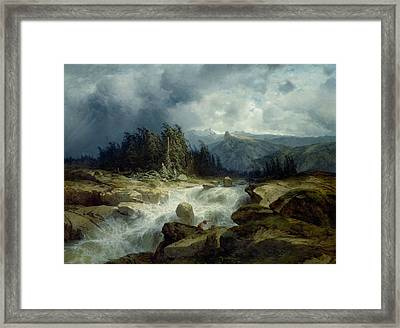 Mountain By Storm Torrent Framed Print