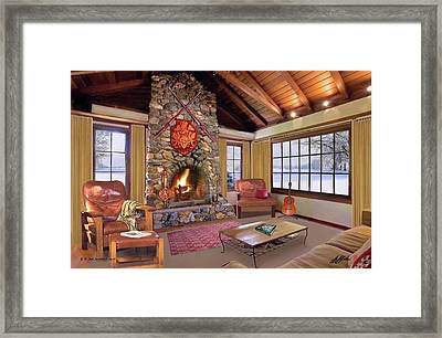 Mountain Cabin Retreat Framed Print by G Jay Jacobs