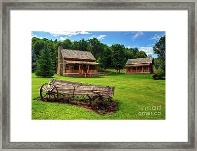 Mountain Cabin - Rural Idaho Framed Print