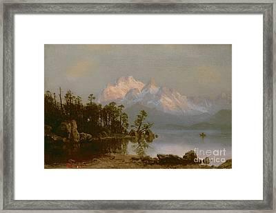 Mountain Canoeing Framed Print