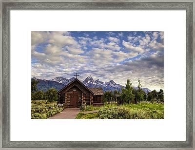 Mountain Chapel Framed Print by Andrew Soundarajan