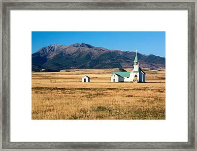 Mountain Chapel Framed Print by Todd Klassy