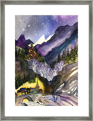 Mountain Christmas Framed Print