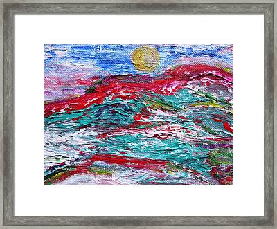 Mountain Colors Framed Print by Amy Drago